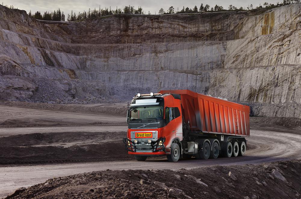 Volvo entwickelte eine autonome Gesamtlösung für den  Transport von Kalkstein bei Brønnøy Kalk im norwegischen Velfjord